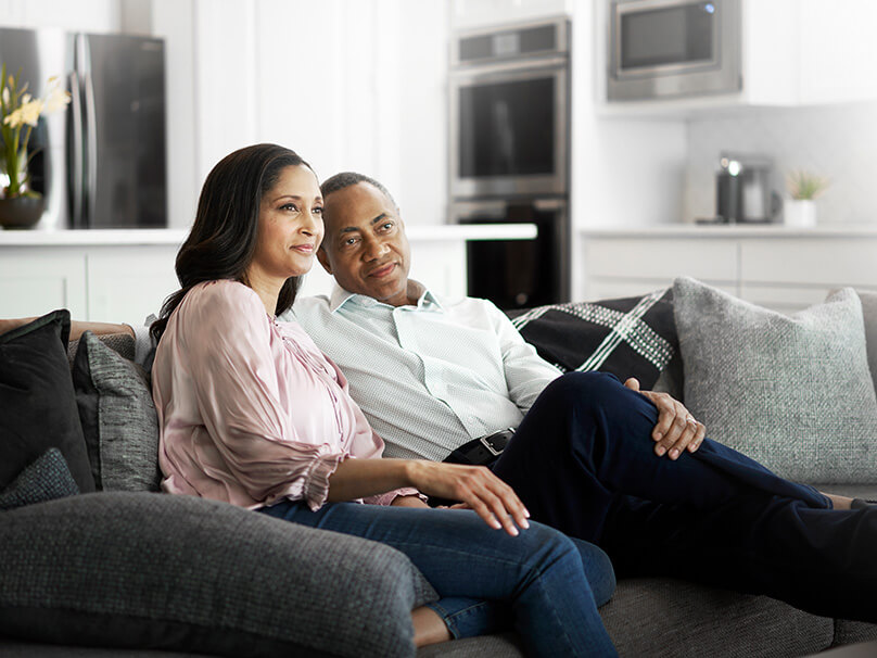 couple enjoying comfortable home